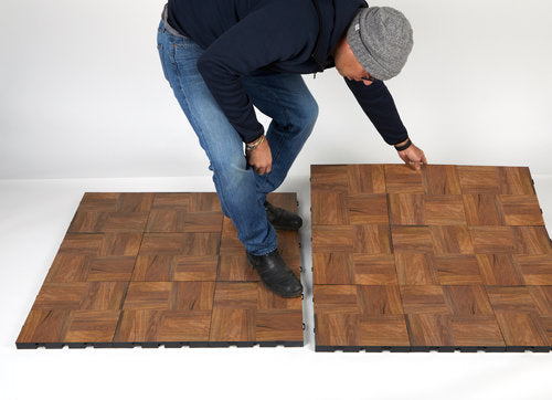 EverBlock Dance can be transported in 3ft x 3ft or 3ft x 4ft sheets and snaps together to create the size floor you need.