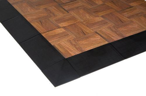 Edges snap onto EverDance floors to create a gradual transition up and on to the floor.