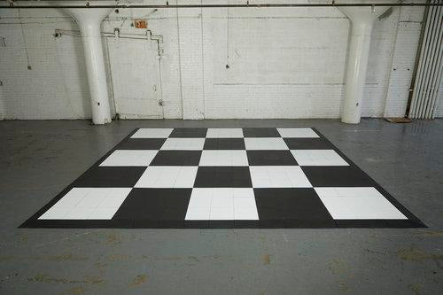 Black and White checkerboard floors create a classic and dramatic look at any event.