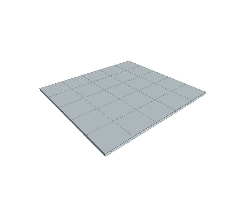 5ft x 5ft Light Grey Floor