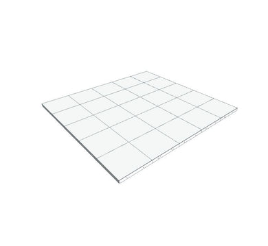 5ft x 5ft White Floor