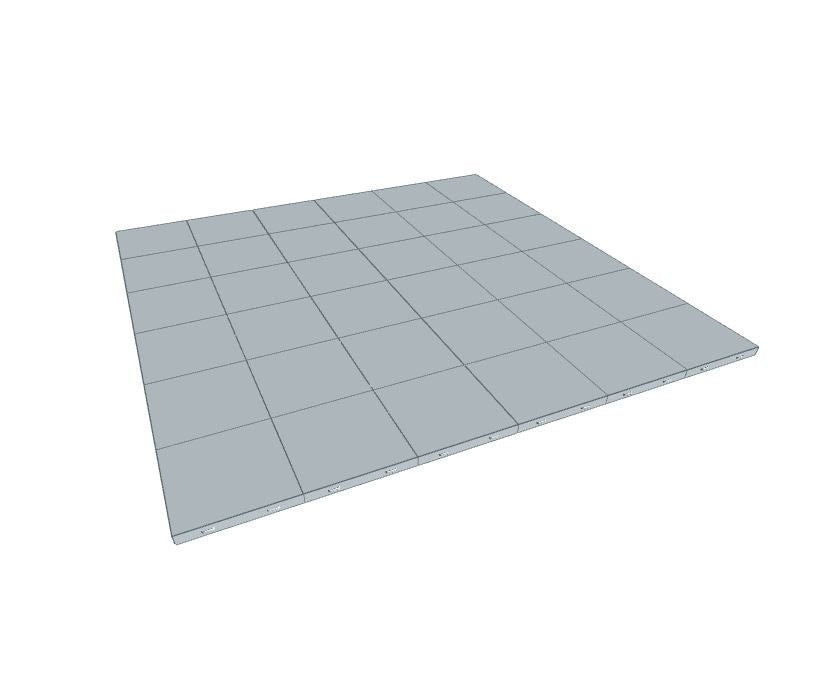 6ft x 6ft Light Grey Floor