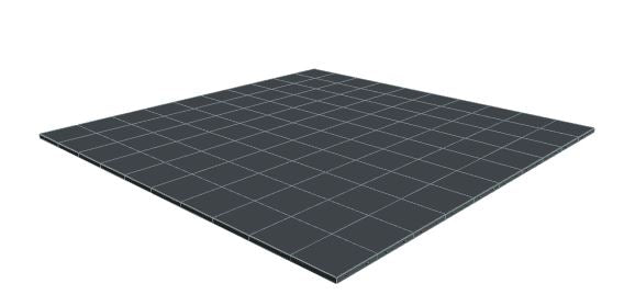 10ft x 10ft Dark Grey Floor