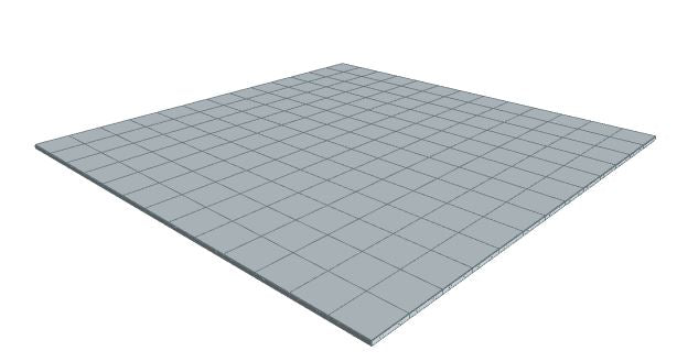 13ft x 13ft Light Grey Floor