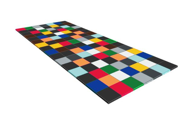 7ft x 16ft Various Colours Floor