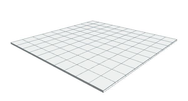 10ft x 10ft White Floor