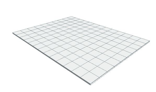 10ft x 13ft White Floor