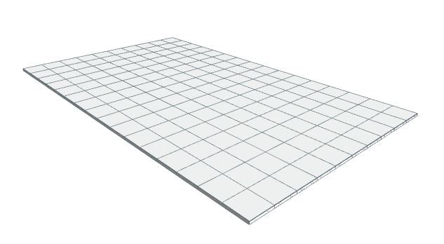 10ft x 16ft White Floor