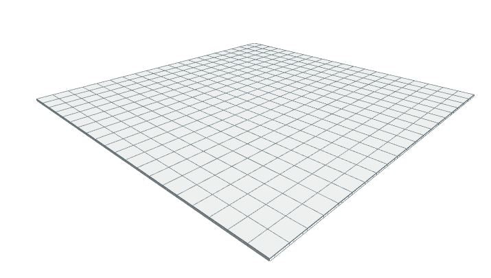 20ft x 20ft White Floor