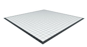 22ft x 22ft White Floor