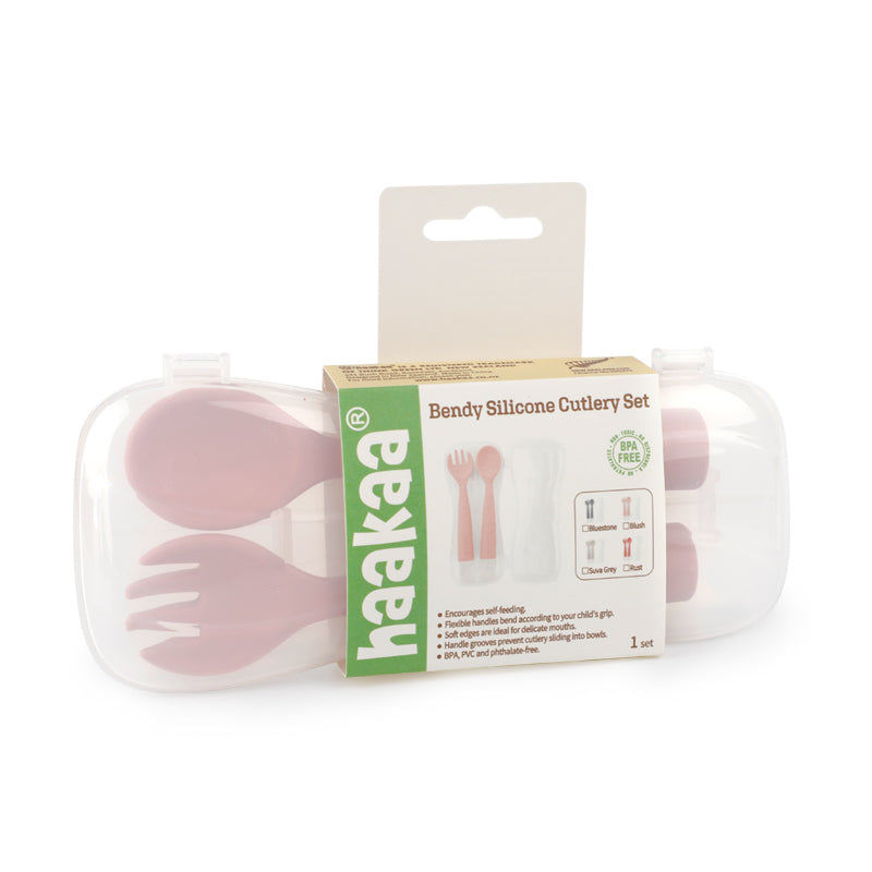 Bendy Silicone Cutlery Set + Case