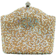 Bottle Shaped Silver And Gold Clutch