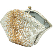 Fan Shaped Gold And Silver Clutch- GLAM CONFIDENTIAL