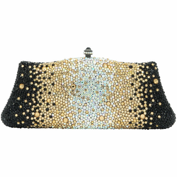Fancy Gold Silver and Black Clutch