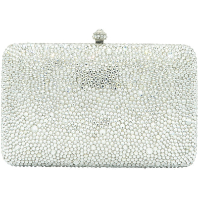 Silver Clutch Bag - GLAM CONFIDENTIAL