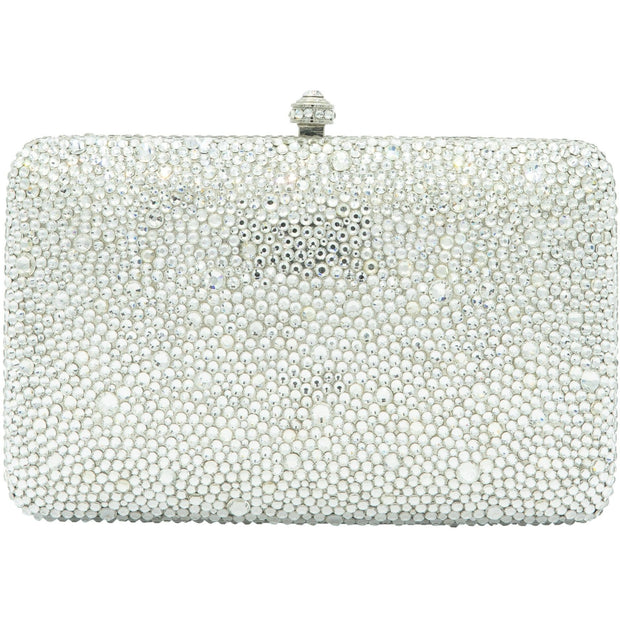 Classic Crystal Silver Clutch Bag-GCB3011 - GLAM CONFIDENTIAL