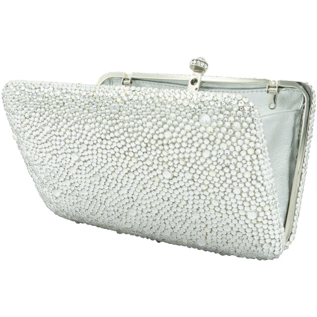 Classic Crystal Silver Clutch Bag - GLAM CONFIDENTIAL