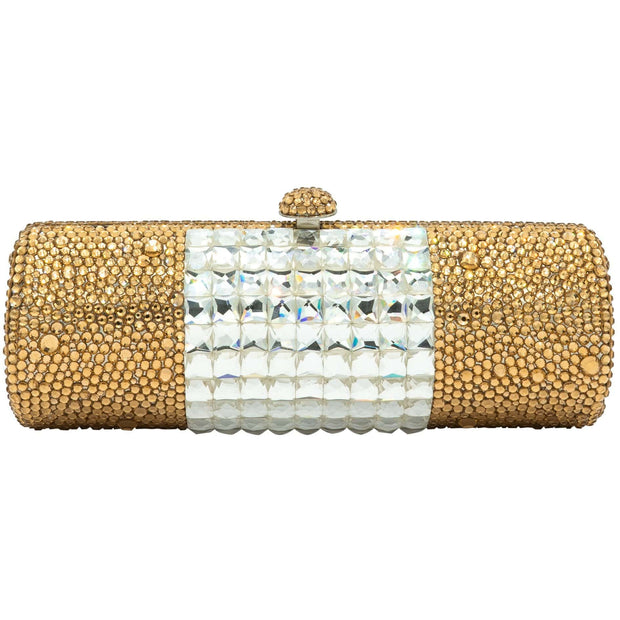 Baguette Shaped Gold And Silver Clutch Bag - GLAM CONFIDENTIAL
