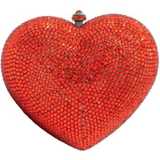 Heart Shaped Red Clutch Bag - GLAM CONFIDENTIAL