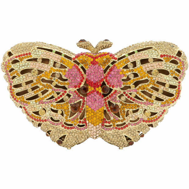 Butterfly Crystal Clutch Bag-GCB5005