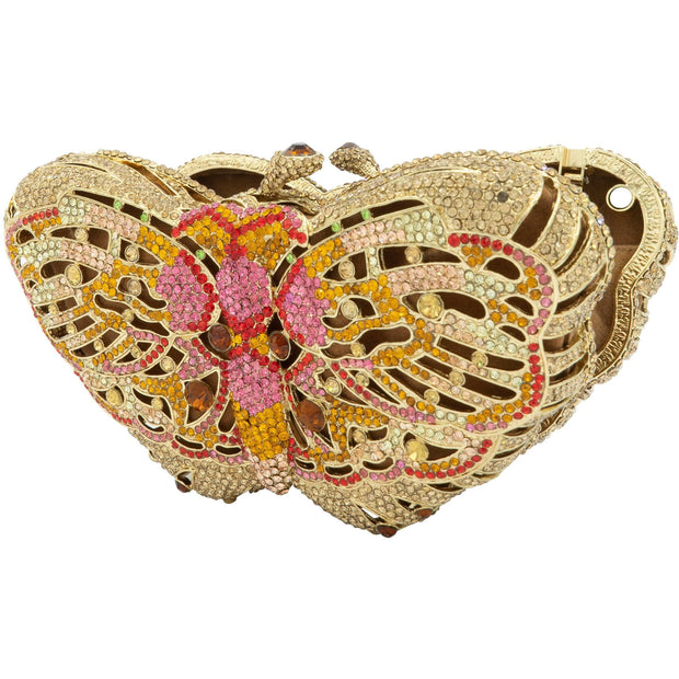Butterfly Crystal Clutch Bag-GCB5005 - GLAM CONFIDENTIAL