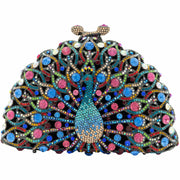 Peacock Shaped Multicoloured Clutch Bag- GLAM CONFIDENTIAL