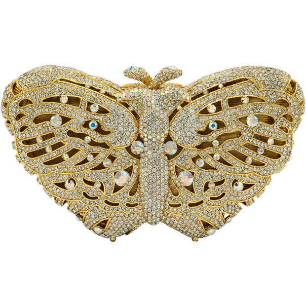 Butterfly Shape Gold Clutch Bag - GLAM CONFIDENTIAL