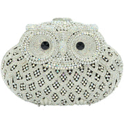 Silver Owl Crystal Clutch Bag-GCB5012