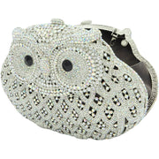Owl Shaped Silver Clutch - GLAM CONFIDENTIAL