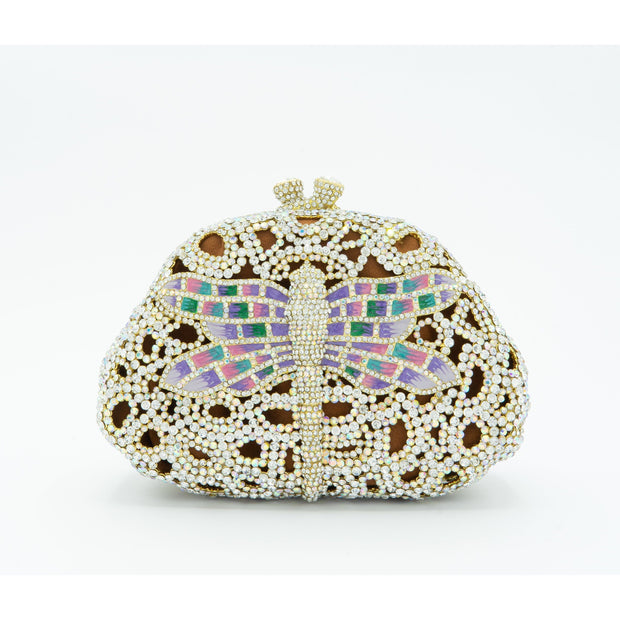 Dragonfly Crystal Clutch Bag-GCB5014