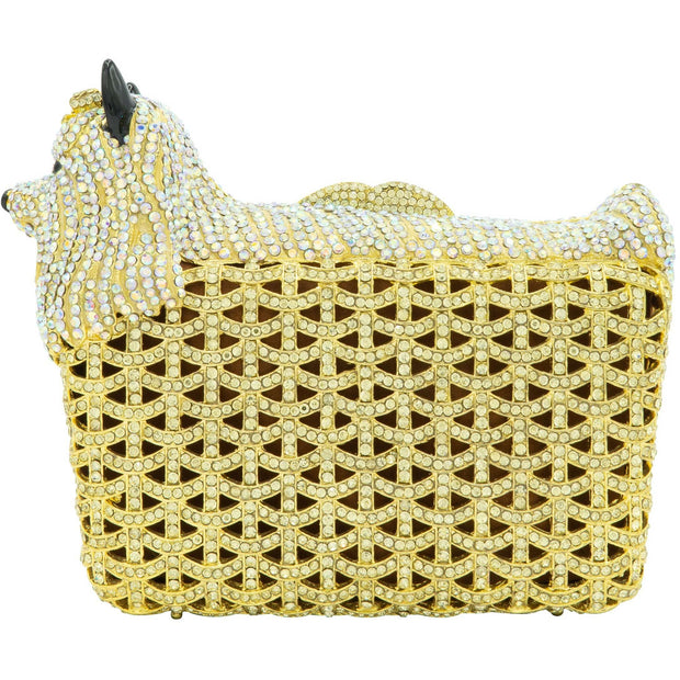 Dog Shape Gold Clutch Bag - GLAM CONFIDENTIAL