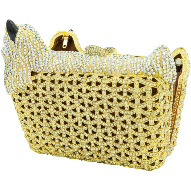 Dog Shape Gold Clutch - GLAM CONFIDENTIAL