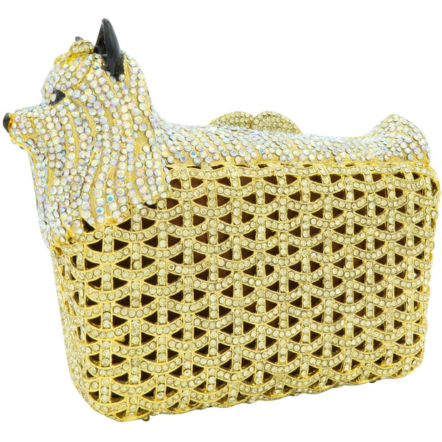 Foxy Gold Crystal Clutch Bag-GCB5016
