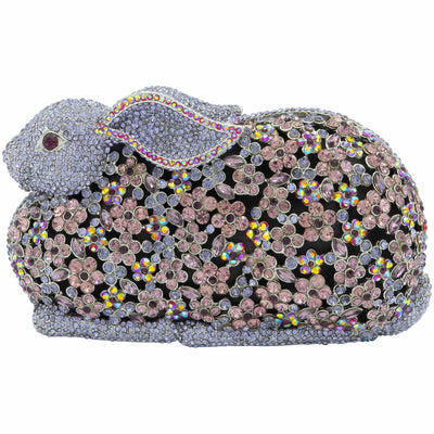 Purple Bunny Crystal Clutch Bag-GCB5021 - GLAM CONFIDENTIAL