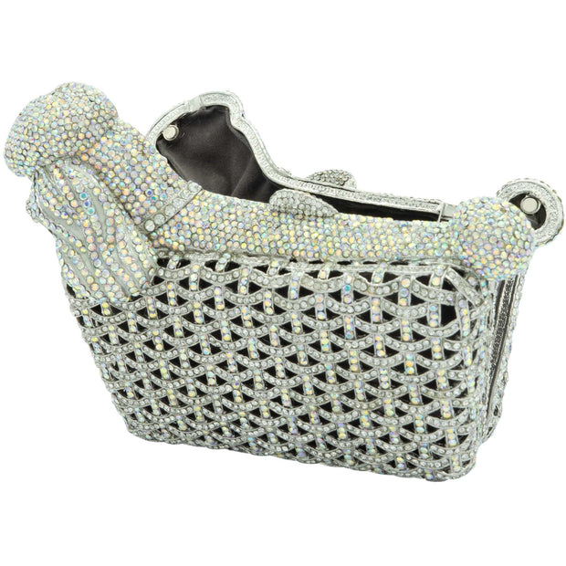 Poodle Dog Shaped Silver Clutch - GLAM CONFIDENTIAL
