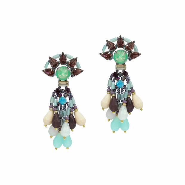 Aquamarine Chandelier Earrings - GLAM CONFIDENTIAL