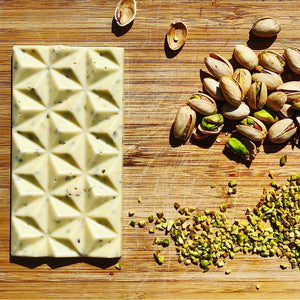 White chocolate with PISTACHIO