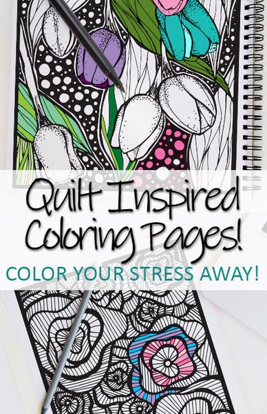 Quilt Inspired Coloring Pages