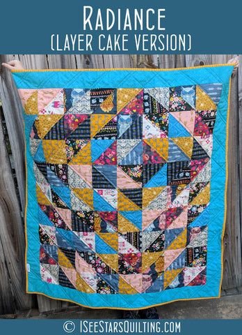 Radiance Quilt Pattern (layer cake version) - Automatic Download