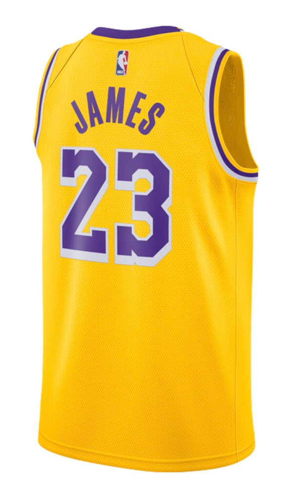 2213e52c1d1 Los Angeles Lakers 18 19 Yellow Jersey - LeBron James