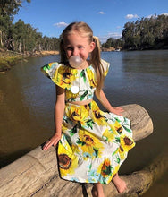 Load image into Gallery viewer, Sunflower Crop & Skirt 2 Piece Set