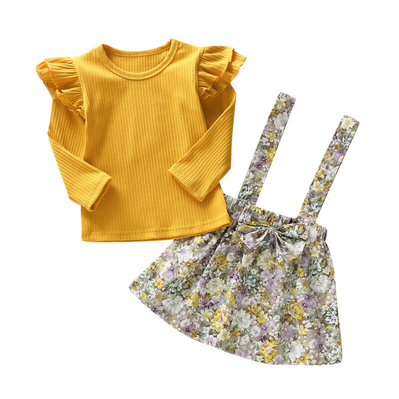 Mustard Princess Skirt Set