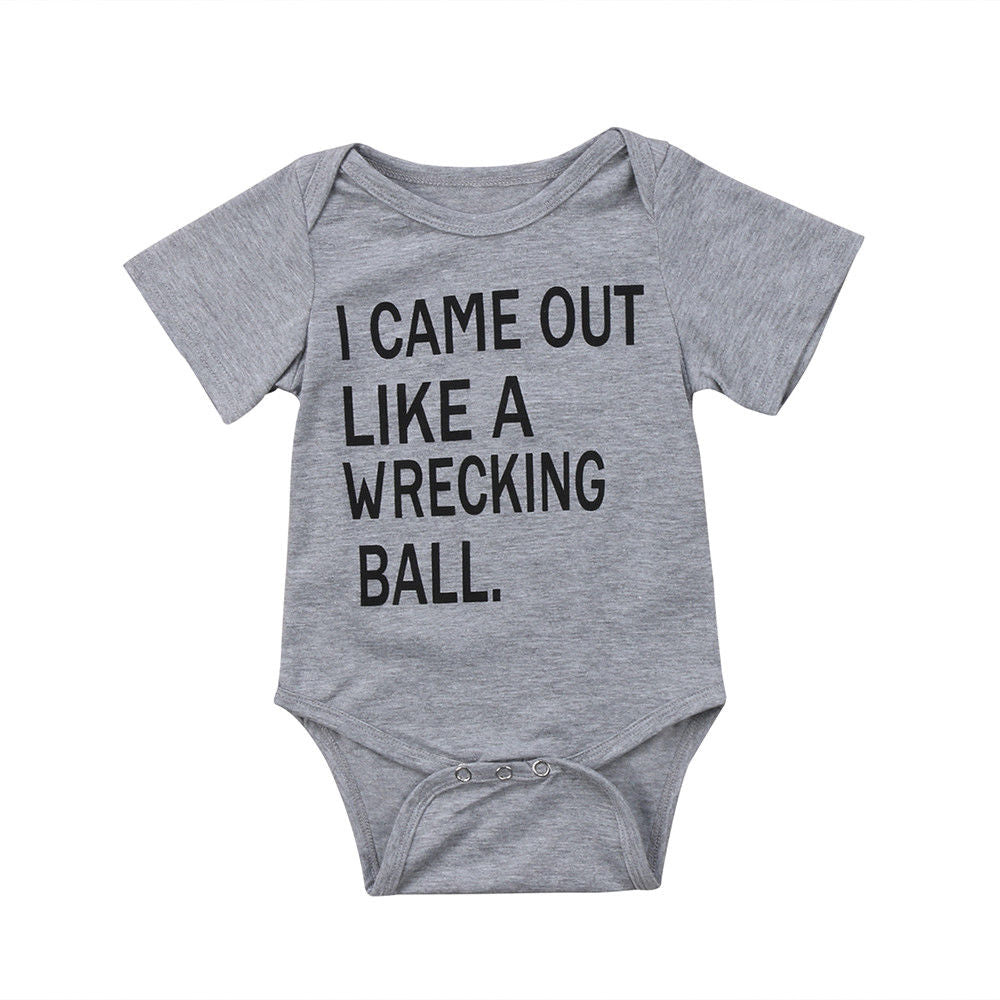 I Came Out Like A Wrecking Ball Romper