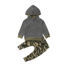 Load image into Gallery viewer, Stripe and Camo 2 Piece Set - Infantnatic