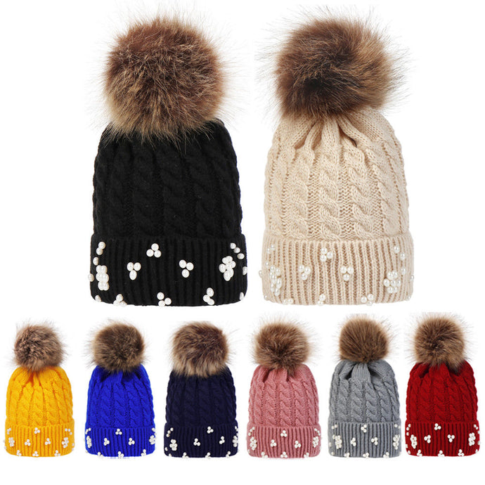 Beads and Pom Pom Beanie