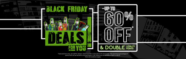 Black Friday In-Store Vape Deals