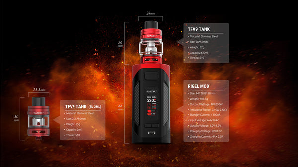 Smok Rigel Kit Specs