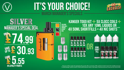 March In-Store Vaping Deals — VPZ