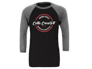 Celtic CrossFit | 3/4 Sleeve | Grey/Black