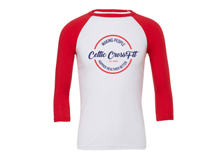 Celtic CrossFit | 3/4 Sleeve | Red/White